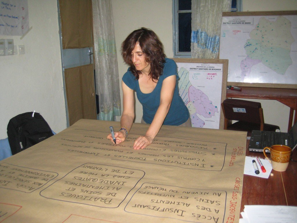 Montse drawing the framework