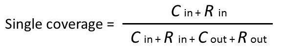 Single coverage calculation